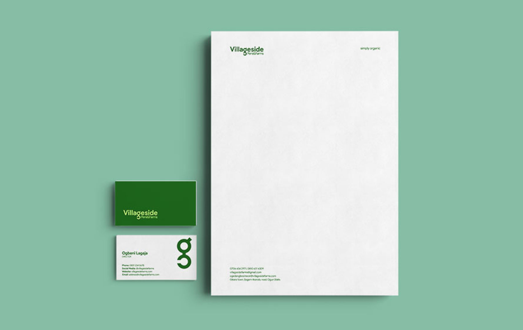 Villageside-businesscard-and-letterhead
