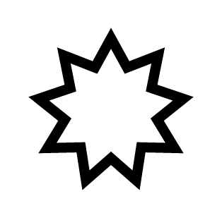 The Bahai symbol (The 9-pointed star)